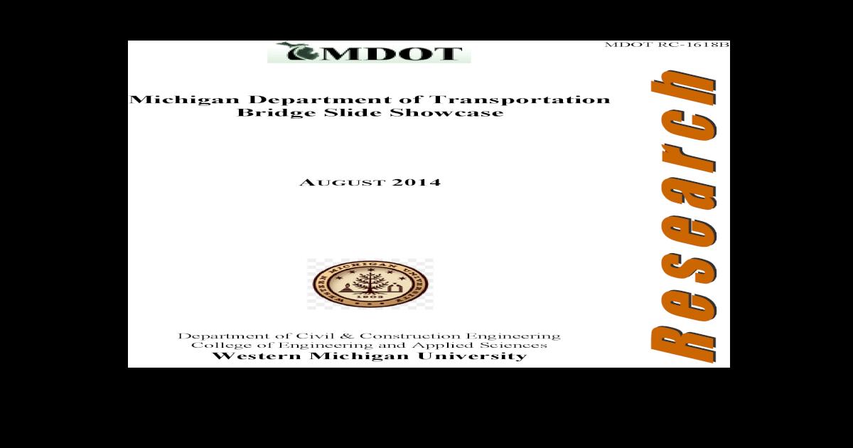 MDOT Research Report on Sliding Bridge