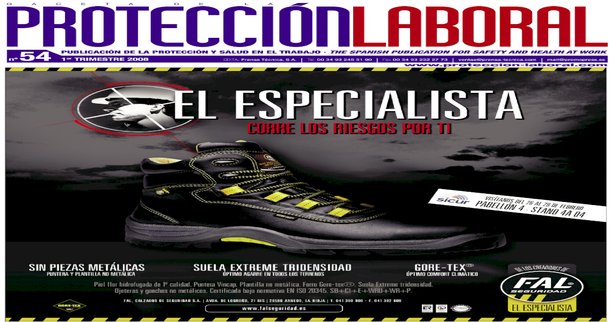 9802aac8 Proteccin Laboral 54 Occupational safety, health and environment