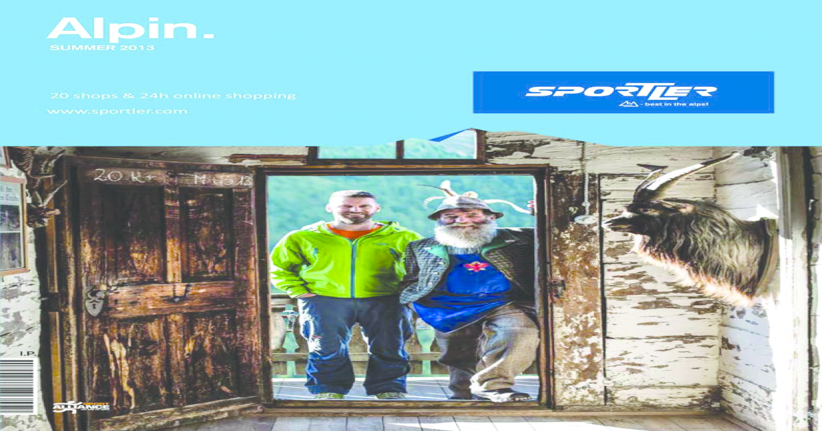 SPORTLER Alpine Catalog 2013 8e954400e3c