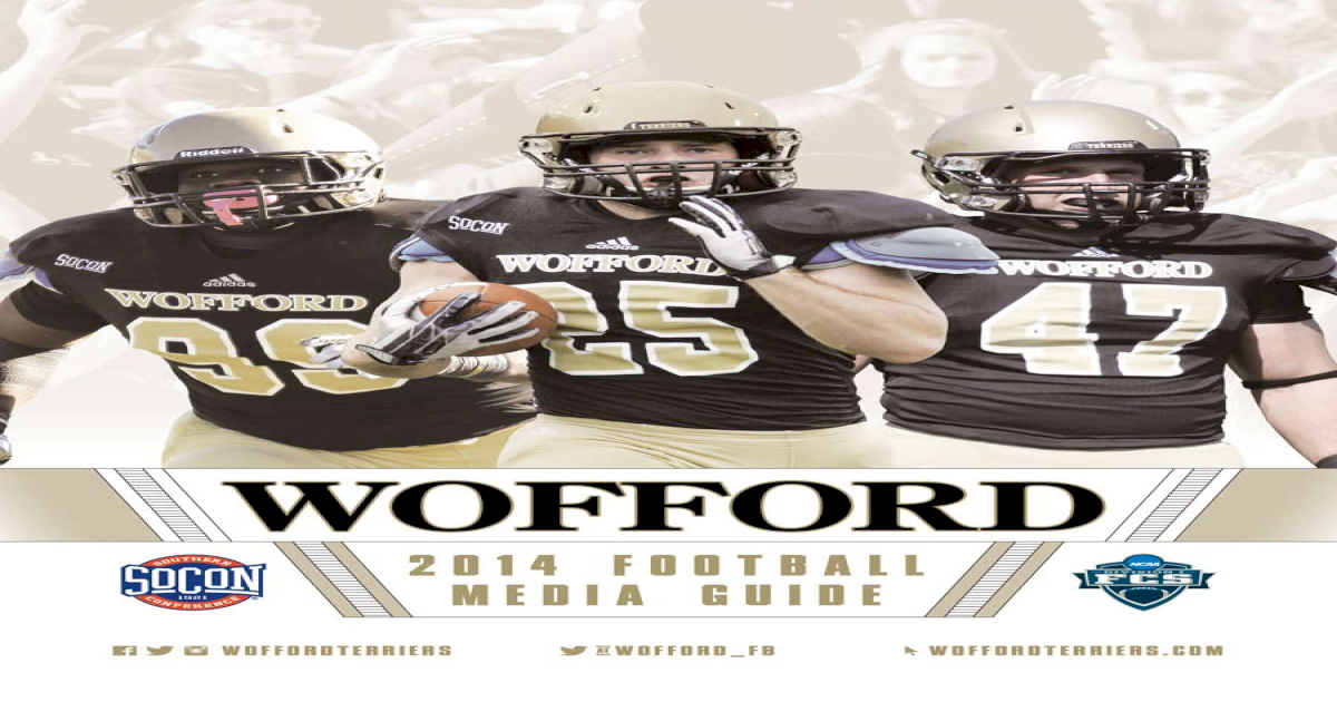 timeless design a49dc b082b 2014 Wofford Football Media Guide