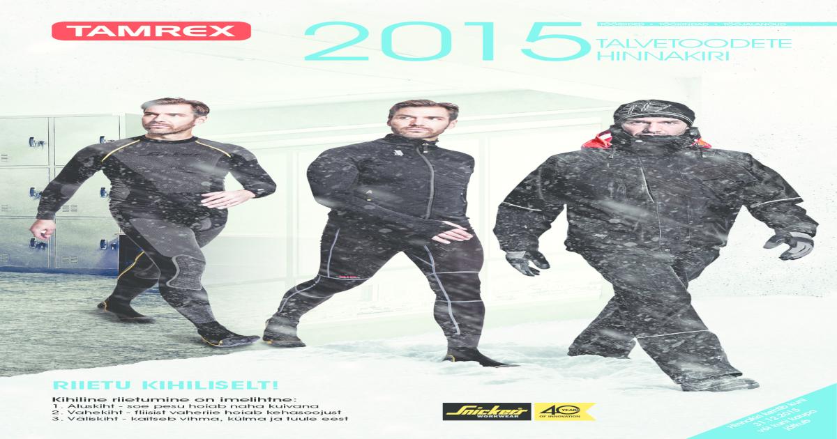 c85e11caea9 Tamrex talvetoodete kataloog 2015 ee