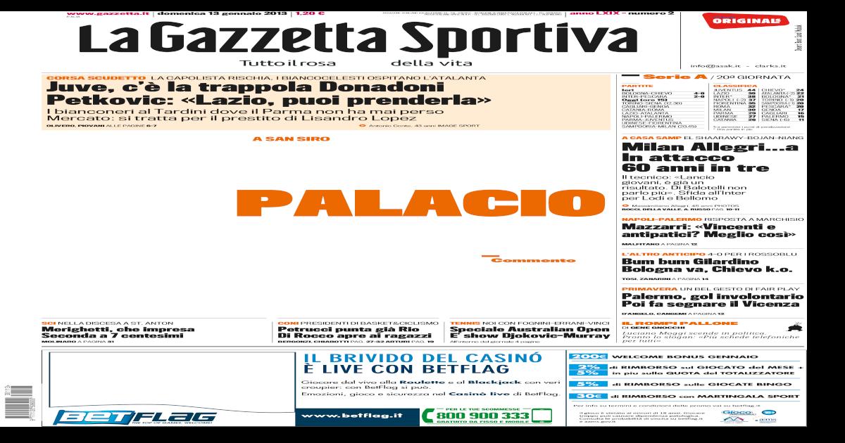 Gazzetta Dello Sport 13 01 2013 fcfe32c7ec0