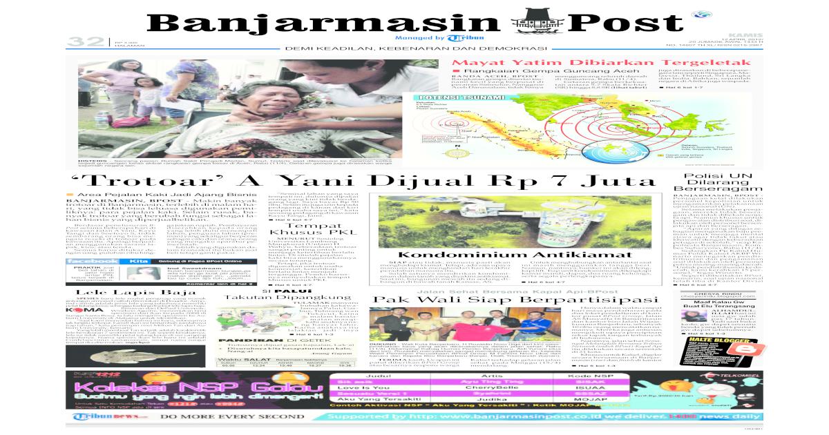 Banjarmasin Post edisi cetak Kamis 12 April 2012 657ea95fc9