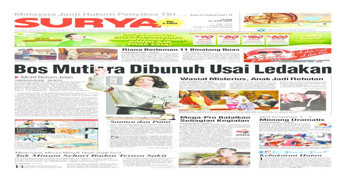 Surya Edisi Cetak 29 Juni 2009 c03fd4467b