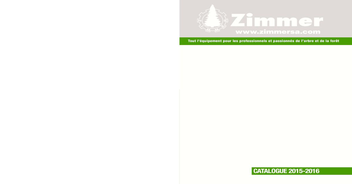 ZIMMER CATALOGUE GENERAL 2015 2016 e809eaadca2