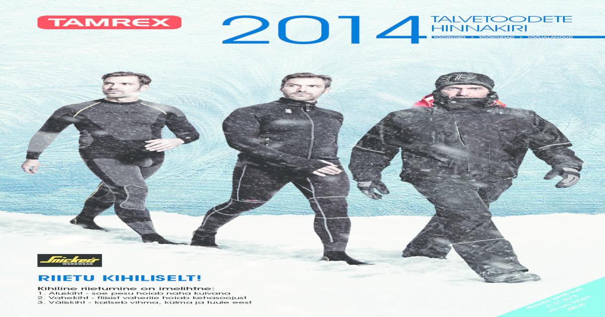 7bc09c8d1ea Tamrex talvetoodete kataloog 2014 EE