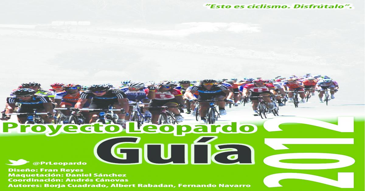 La Leopardo Gua 2012 Proyecto De Temporada Yb6gf7y