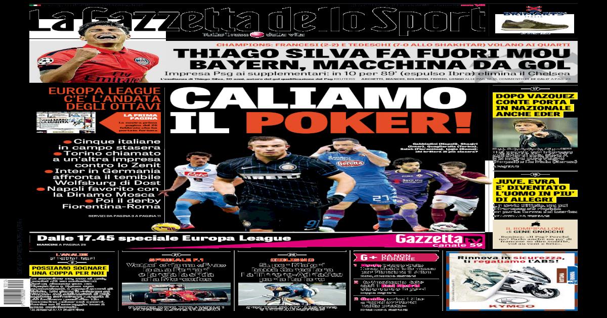 5b192b7623 La Gazzetta dello Sport (03-12-2015)