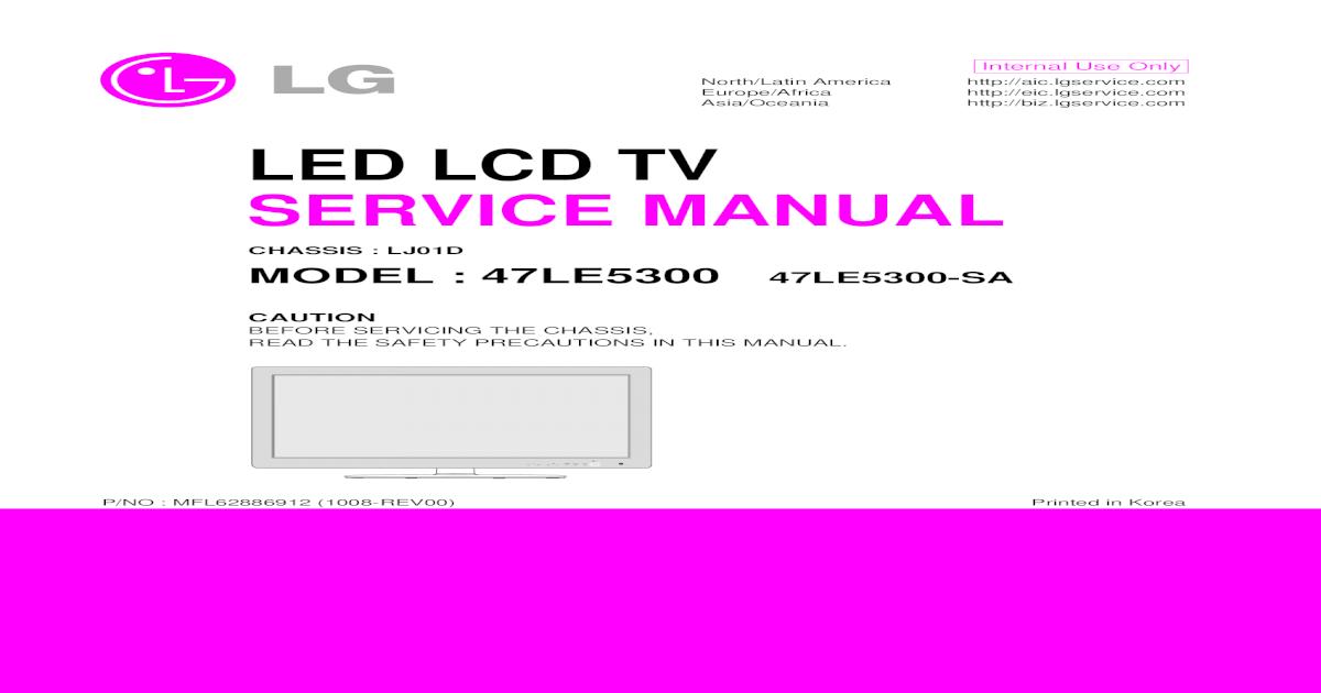 Manual Mais Esquema Tv Lg Led_lcd_47le5300 47le5300-Sa