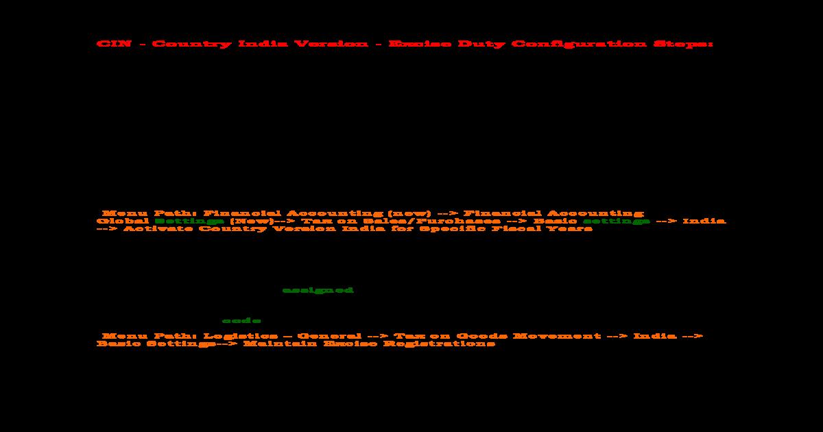 Sap Sd Cin Configuration Steps