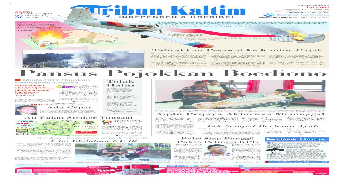 TRIBUN KALTIM - 20 FEBRUARI 2010 7451f386ae