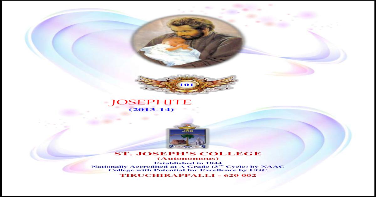 Annual Report JOSEPHITE 2013-2014