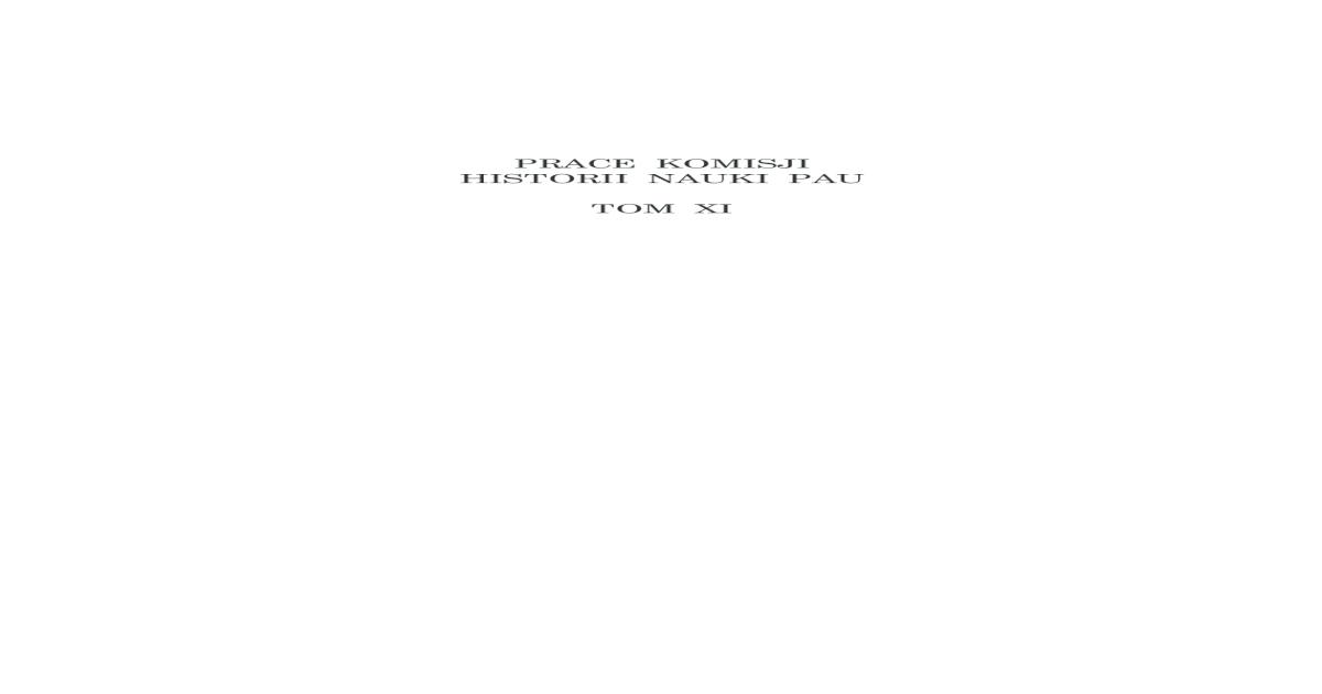 Prace Komisji Historii Nauki Pau Xi 2012