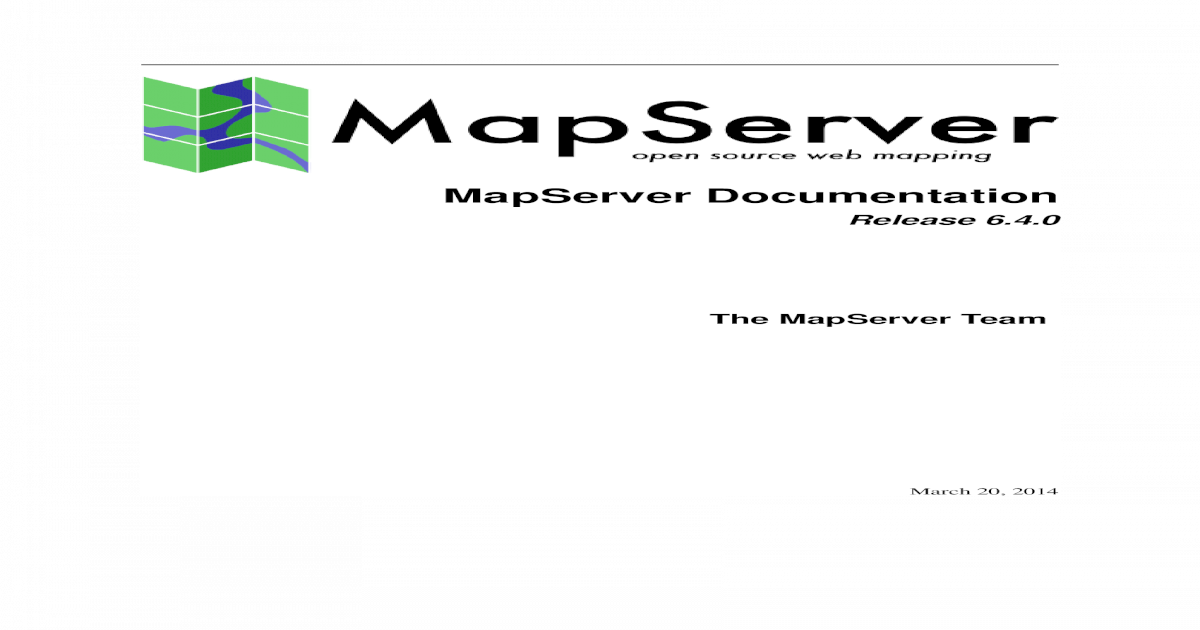 The MapServer Documentation Release 6-4-0