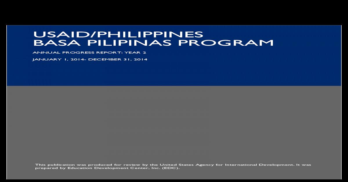 USAID/PHILIPPINES BASA PILIPINAS ? USAID/PHILIPPINES BASA