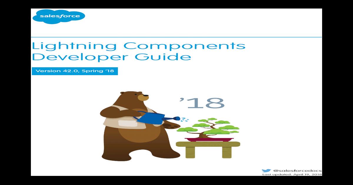 Lightning Components Developer Guide Content     Configure