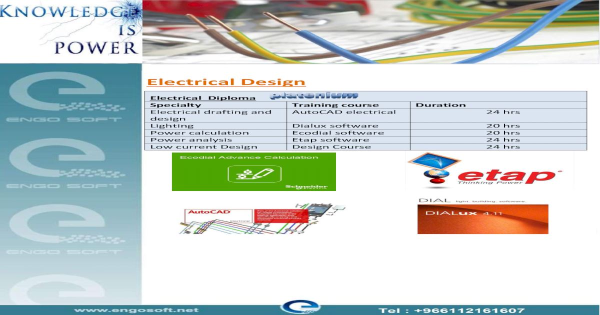 Electrical Design - sectors power design using ecodial Ecodial