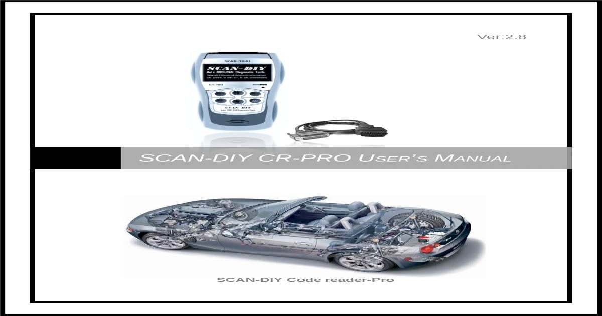 SCAN-DIY CR-PRO Users Manual - Xenonkauppa viewJeep Grand