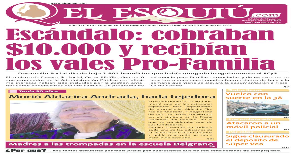 El Esquiu com mircoles 20 de junio de 2012