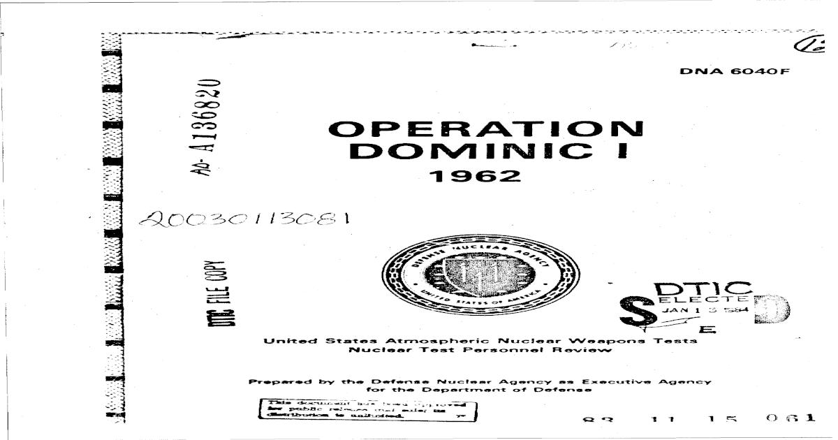 Operation DOMINIC I-1962