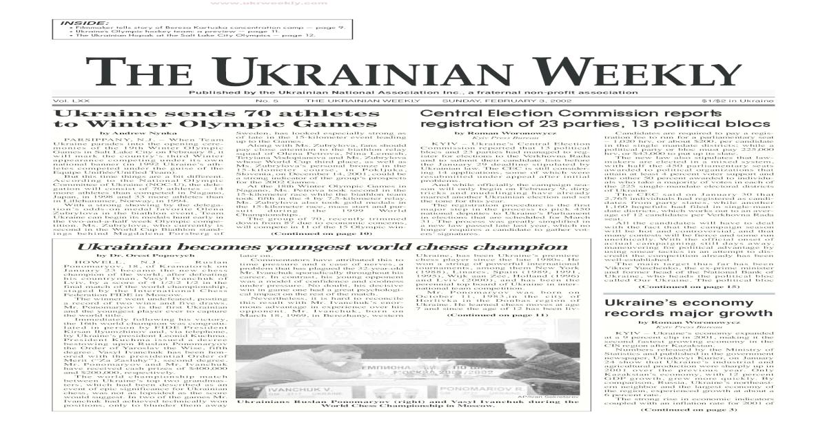 The Ukrainian Weekly 2002, No.5