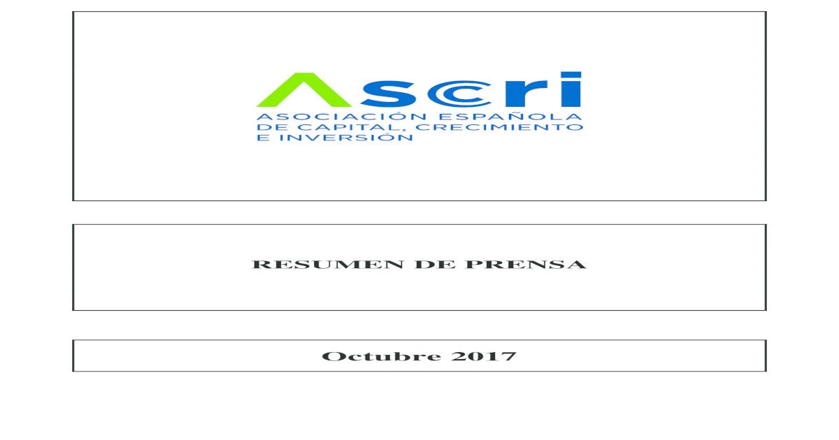 cee58811b Octubre 2017 Asociacin Espaola de Capital, Crecimiento e Inversin VENTURE  CAPITAL INVERSIONES Sodena apoya con 195.000 euros a