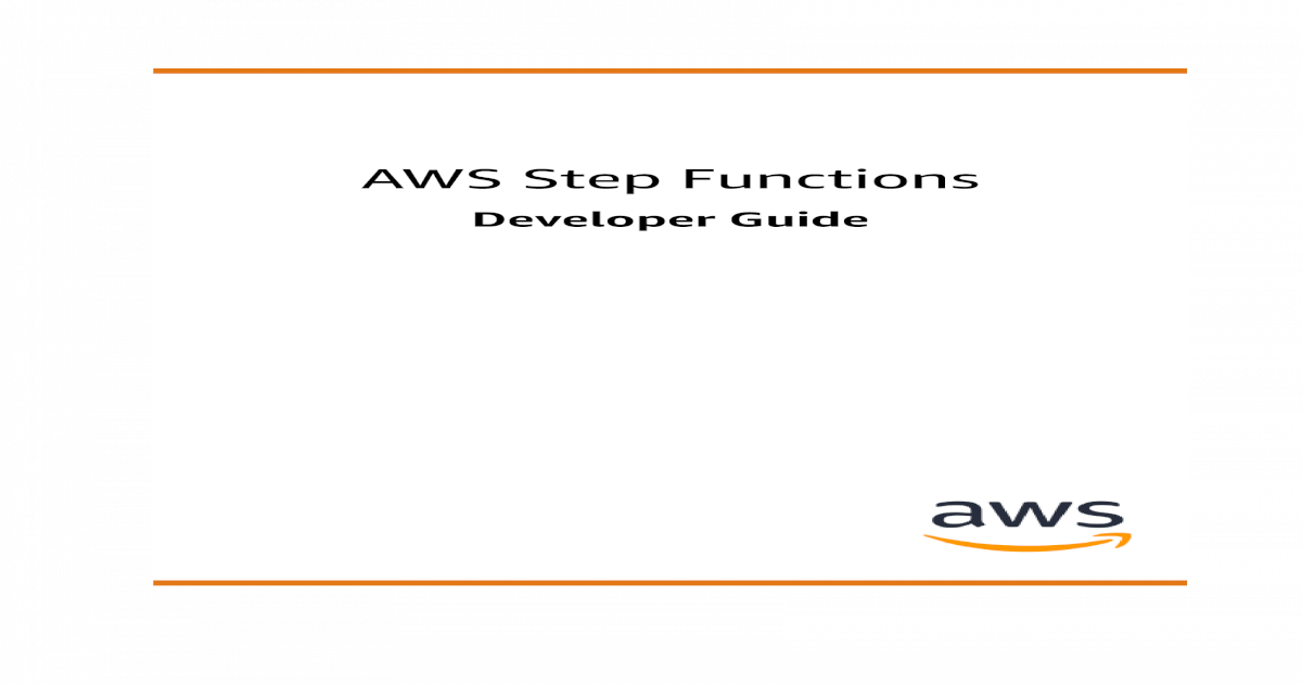 AWS Step Functions Step Functions Developer Guide Step 3: (Optional