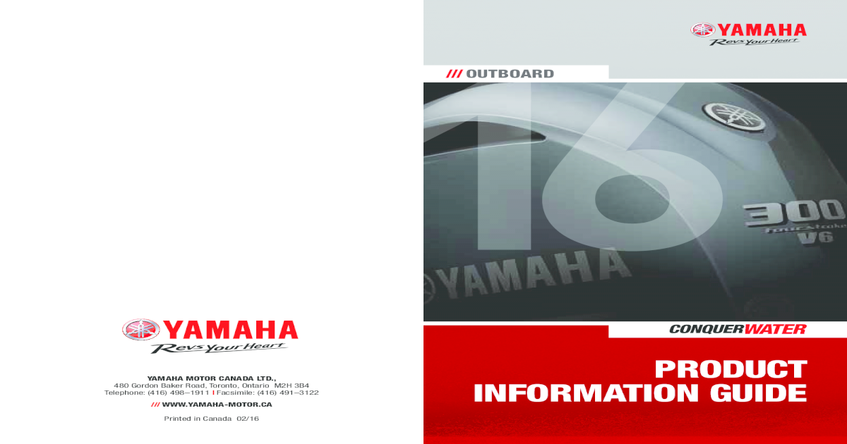 Yamaha Outboard Product Information ??Current Model Codes In