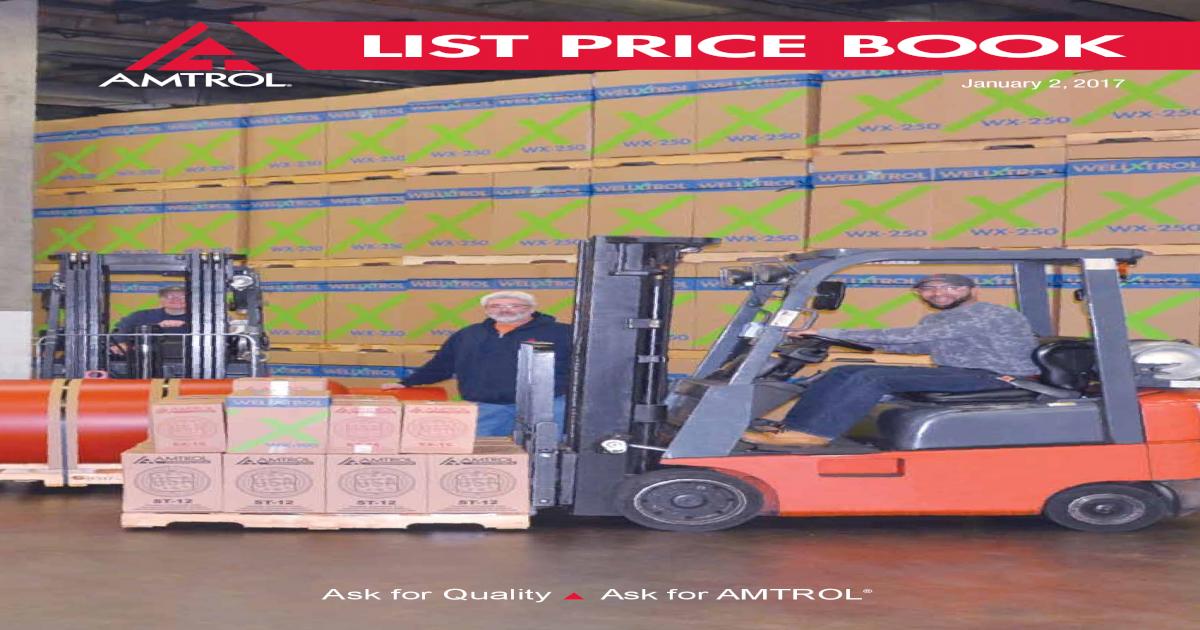 LIST PRICE BOOK - Amtrol