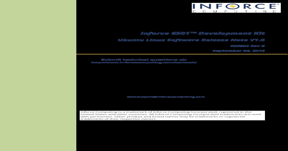 Inforce 6501 Development Kit