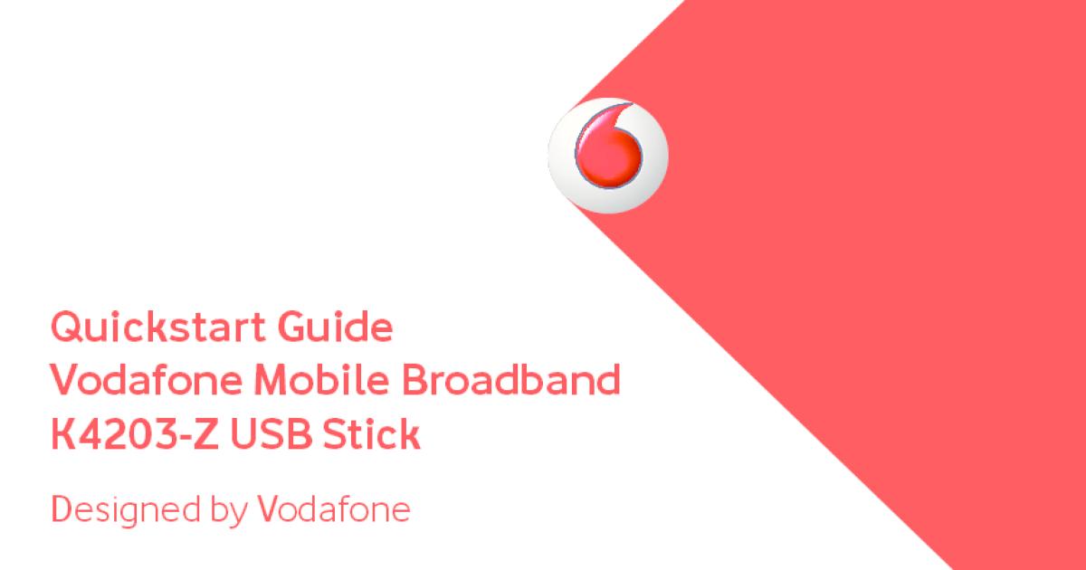 Vodafone Mobile Broadband K4203 3g Usb Modem - Best Modem In The World