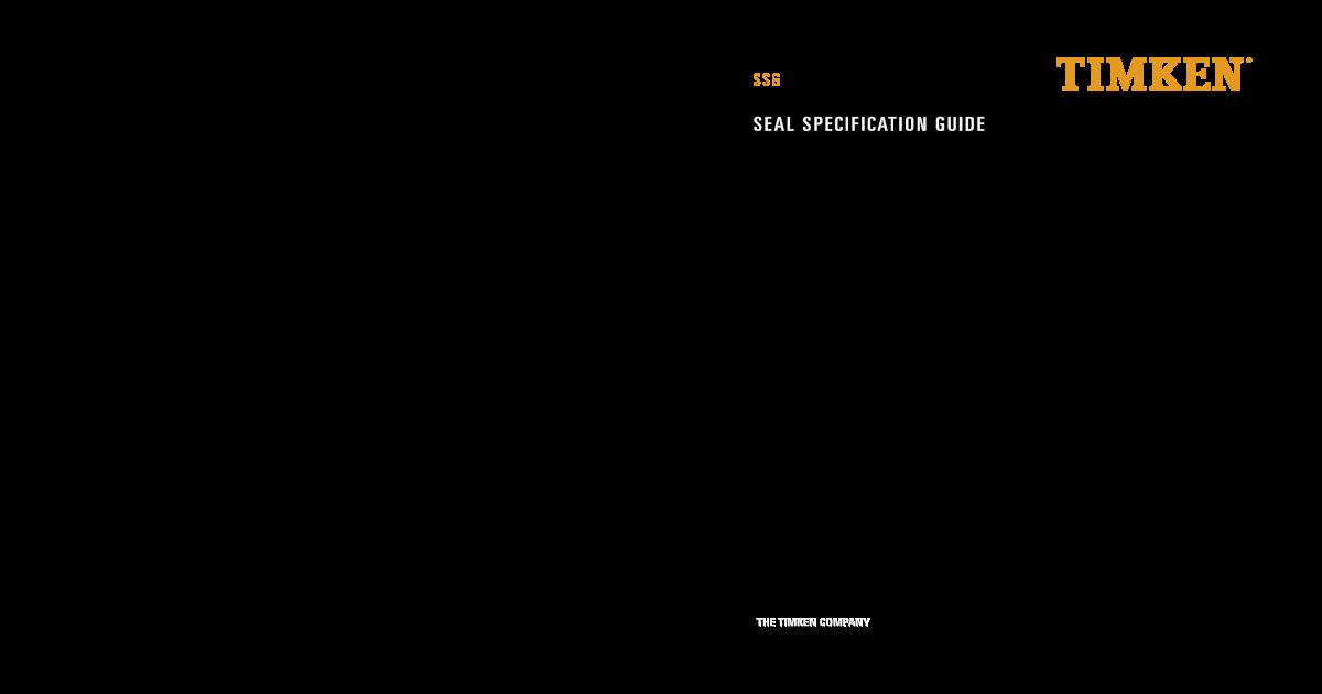 Timken 450329 Seal