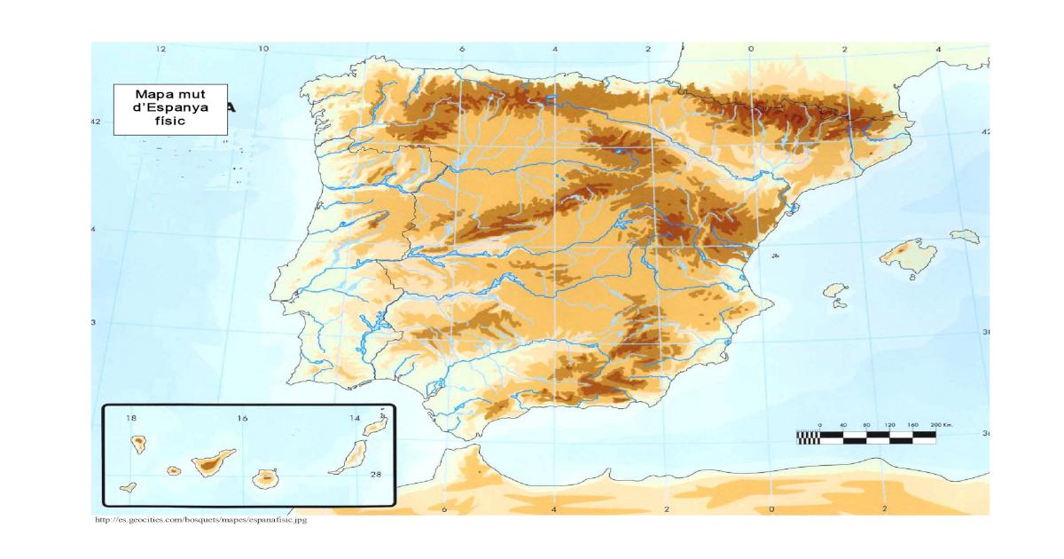 Mapa Físic De Catalunya Mut.Mapa Mut Despanya Fsic Mapa Mut Despanya Fsic