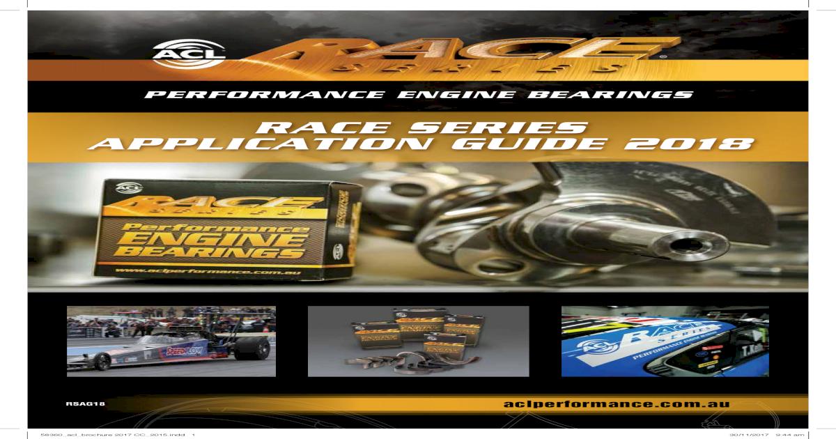 Rod Bearing Set Acura 2.5L sohc 5cyl 20-Valve Engine
