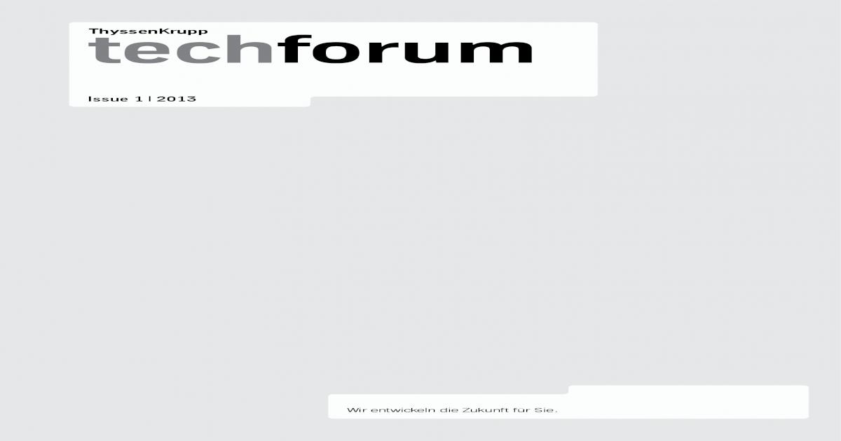 tech ThyssenKrupp forum ??31 10 2013(FH) CARSTEN BLESSING