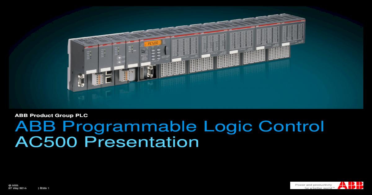 ABB Programmable Logic Control AC500 FILE/PLC+ alone OEM machines