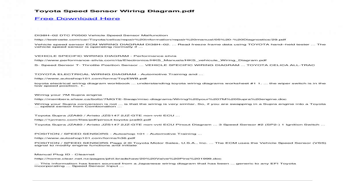 toyota speed sensor wiring diagram - ??14 dtc p0325 knock sensor 1 circuit  malfunction dtc     no signal of knock sensor 1 to ecm with engine speed  be-