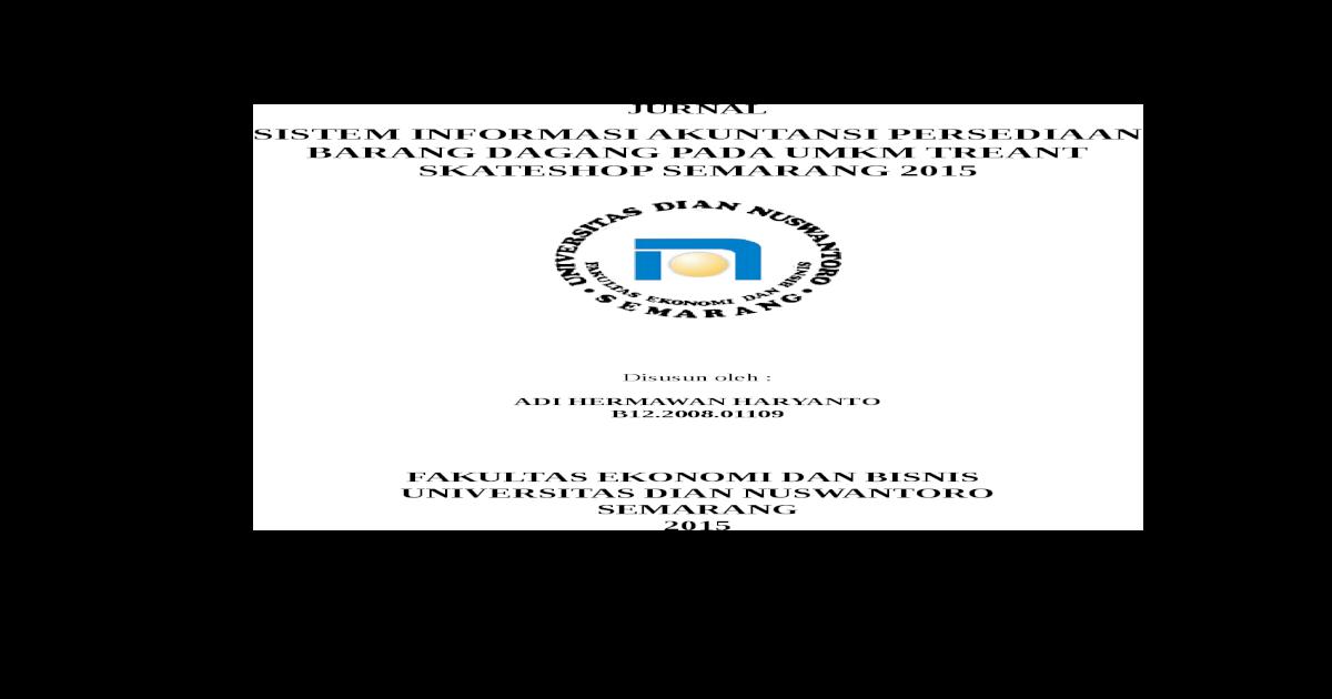 Judul Skripsi Akuntansi Persediaan Barang Dagang Kumpulan