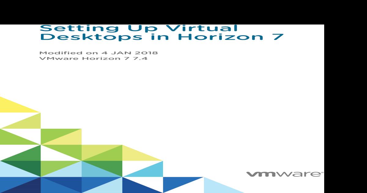 Setting Up Virtual Desktops in Horizon 7 - VMware Horizon 7