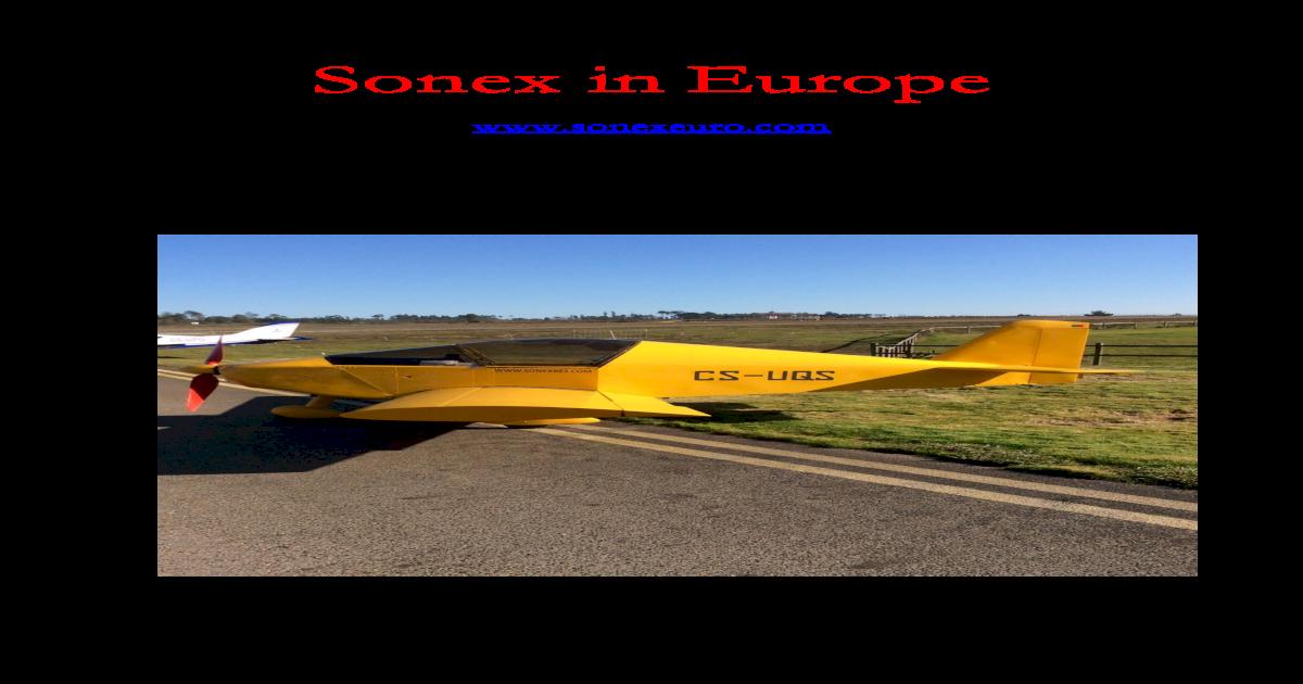 Sonex in Rayners Jabiru engine course report Chris, owner of