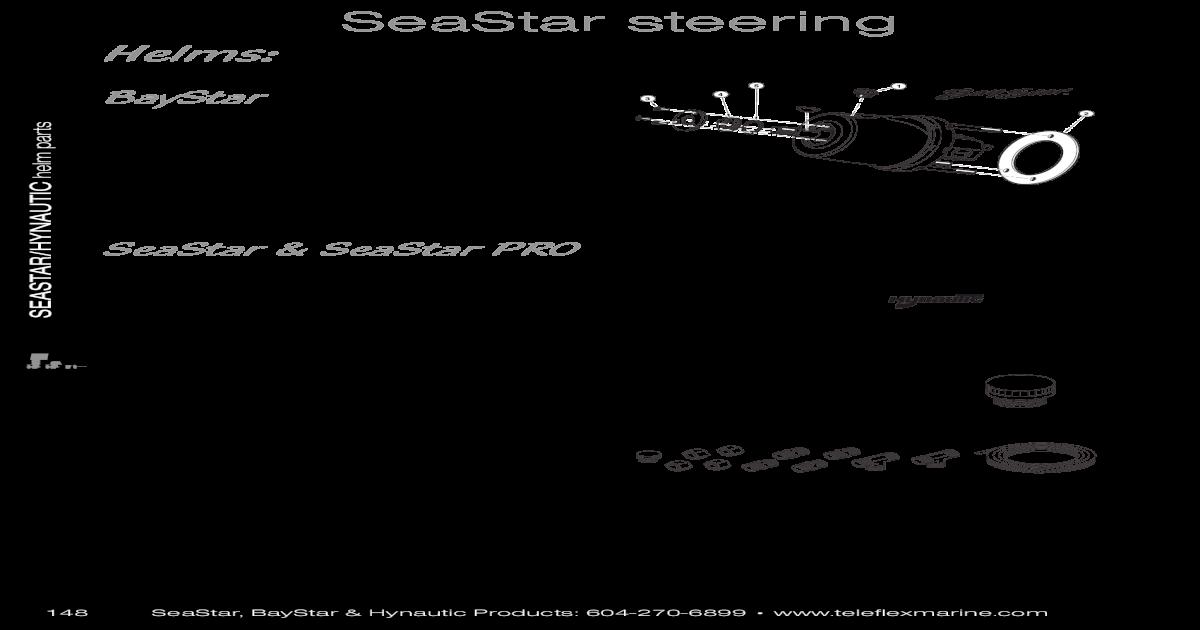 SeaStar steering parts - Jamestown Distributors steering