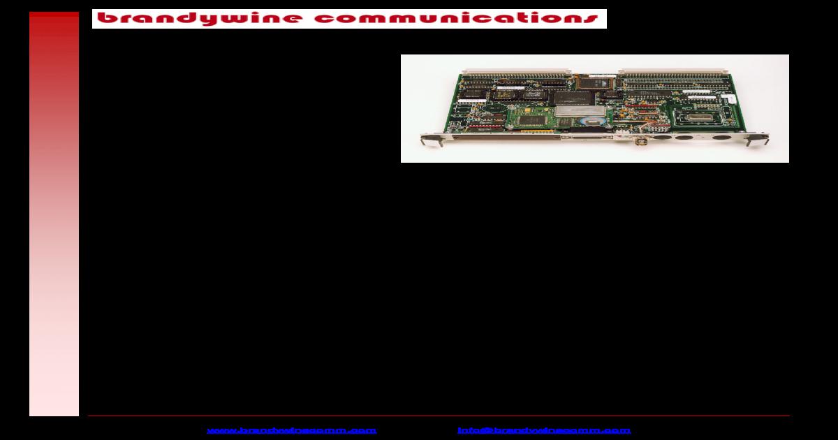 VME-Syncclock32 Datasheet - Brandywine VME-SyncClock32 from