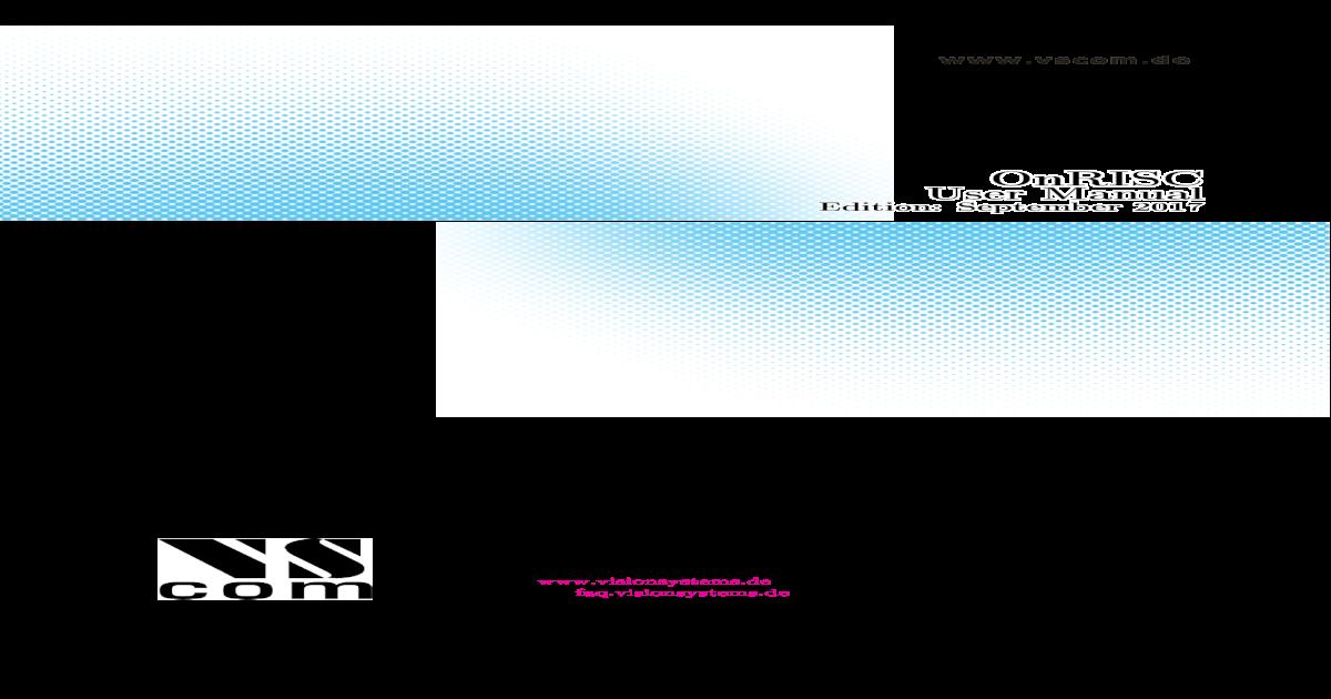 OnRISC User Manual - Data Communication, VS NetCom 2017