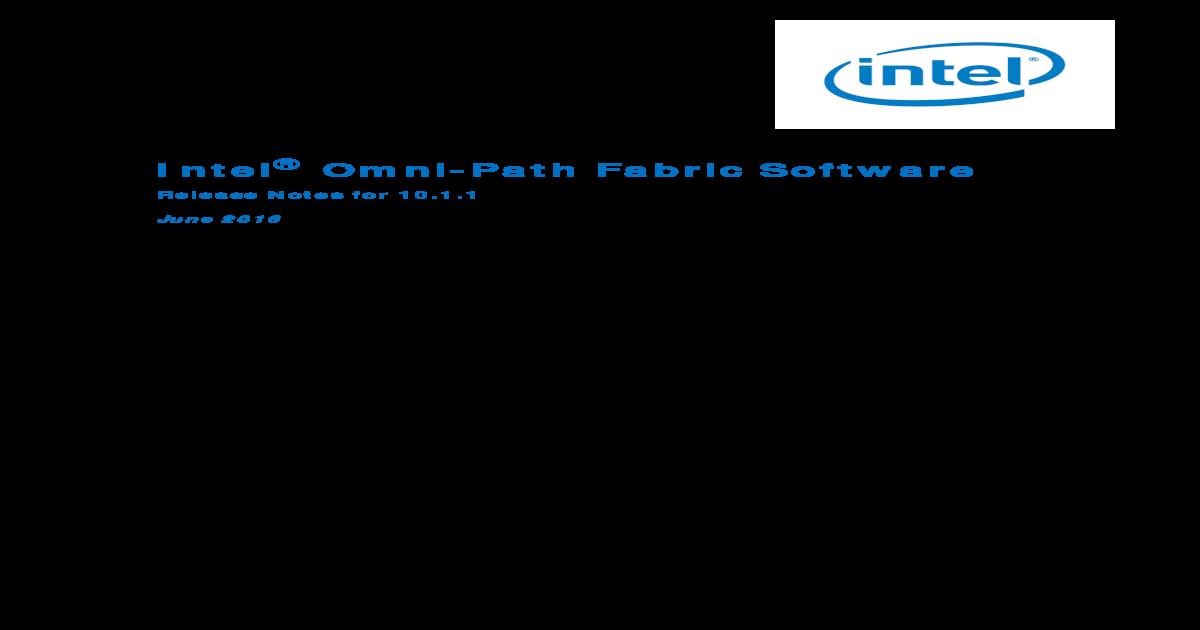 INTEL OMNI-PATH EDGE EXTERNALLY-MANAGED SWITCH 64BIT DRIVER