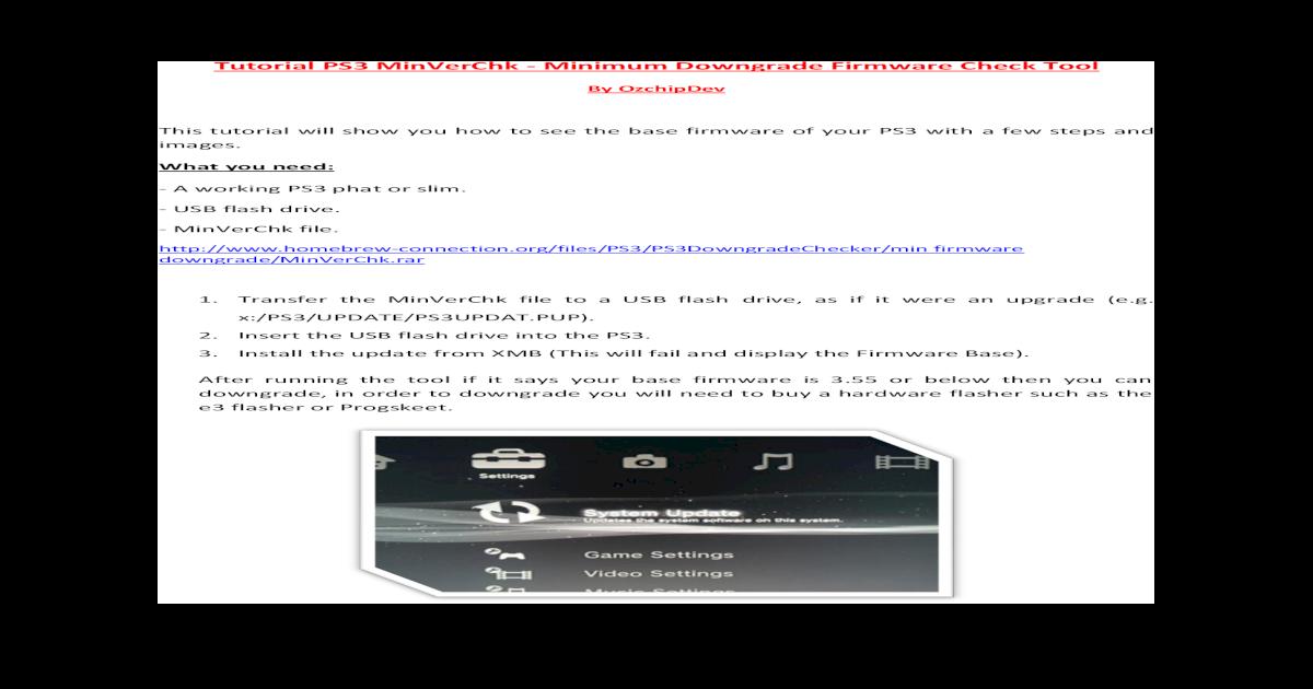 Tutorial PS3 MinVerChk - Minimum PS3 MinVerChk - Minimum