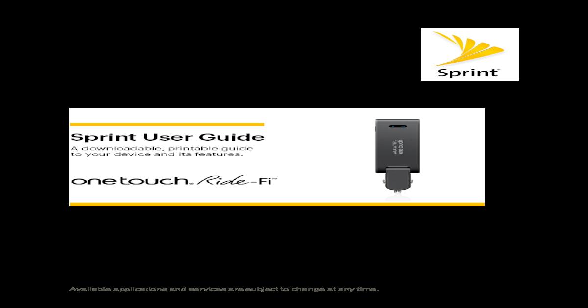 Alcatel ONETOUCH® Ride-Fi™
