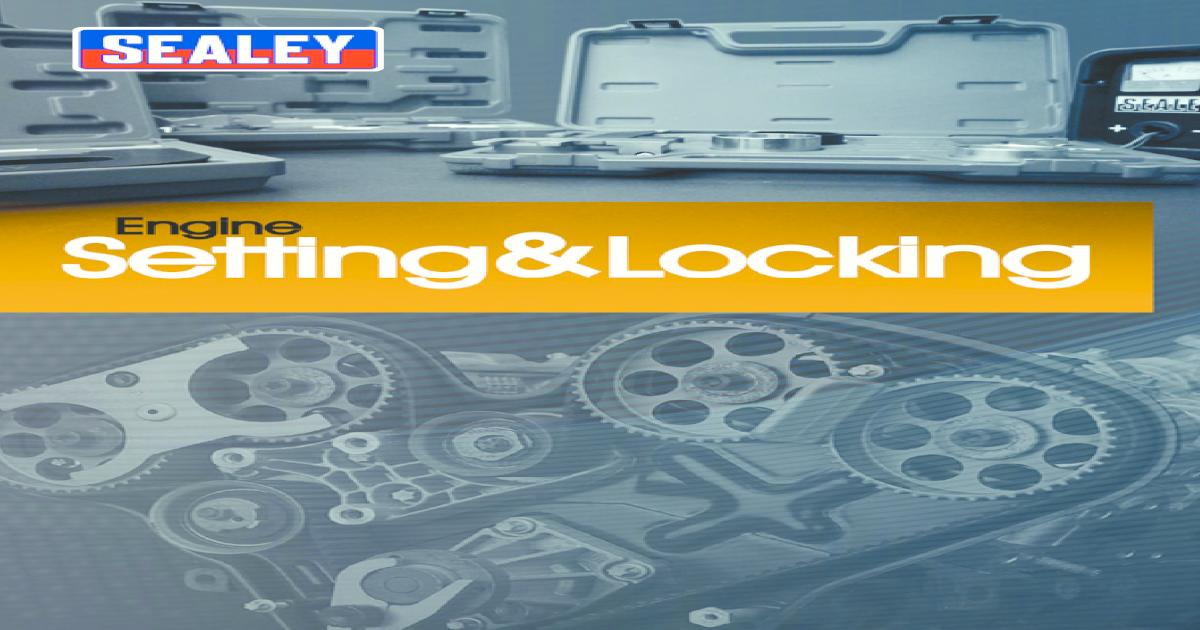 Sealey VS1700 twin cam locking kit-vauxhall//opel ecotec