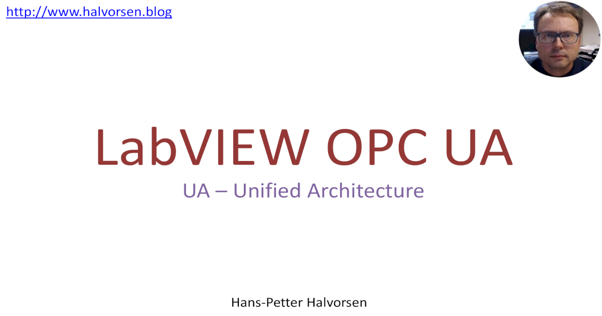 LabVIEW OPC UA - a Blog about Technology ??Software LabVIEW
