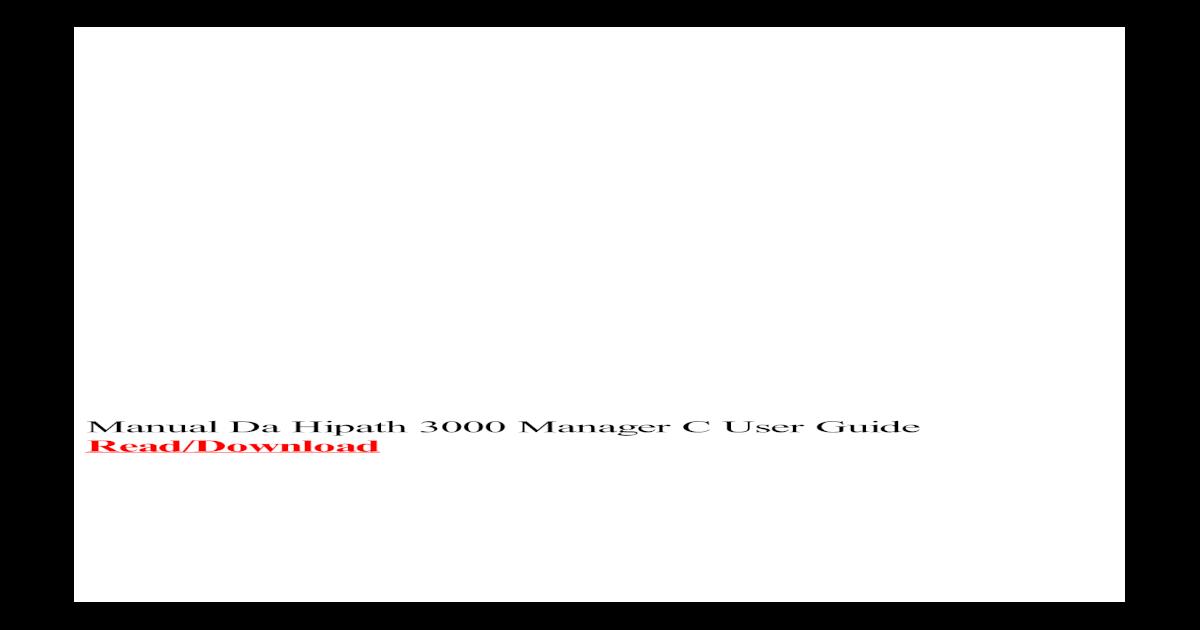 E 3000 TÉLÉCHARGER HIPATH MANAGER