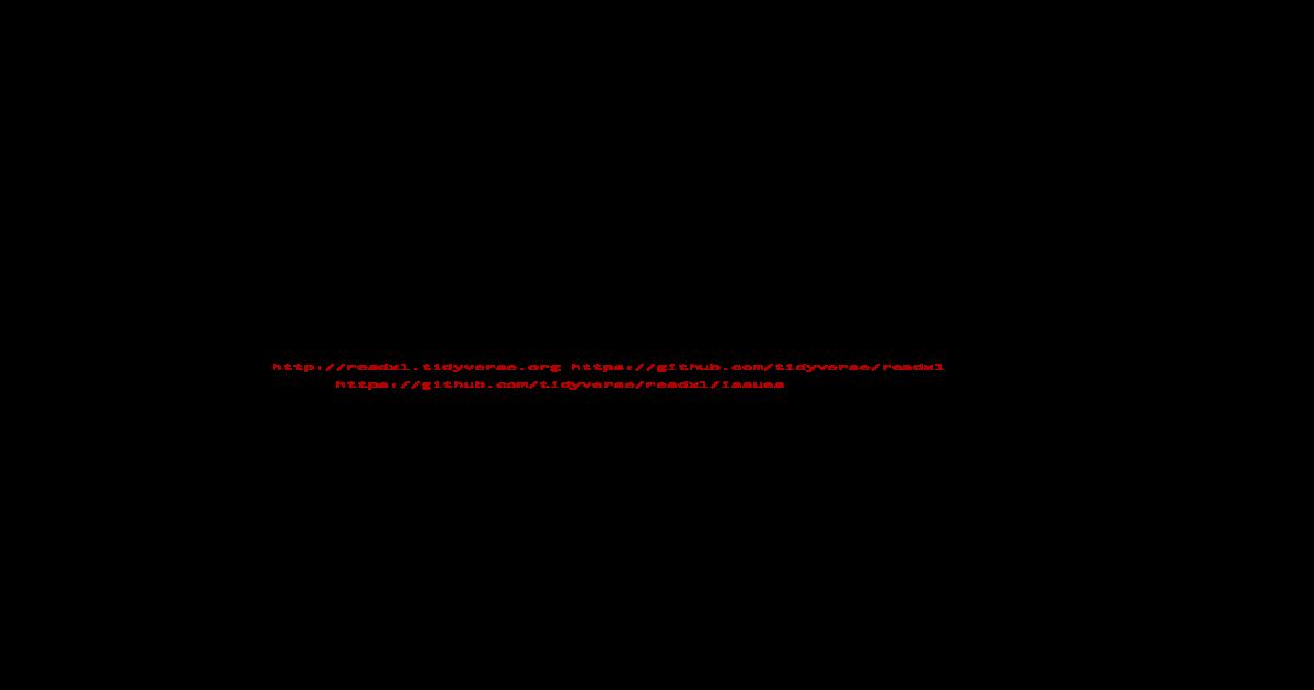 Package readxl - cran      read_xls(path, sheet = NULL